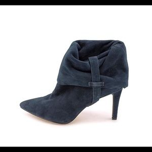 Calvin Klein Bethany blue kid suede ankle heel